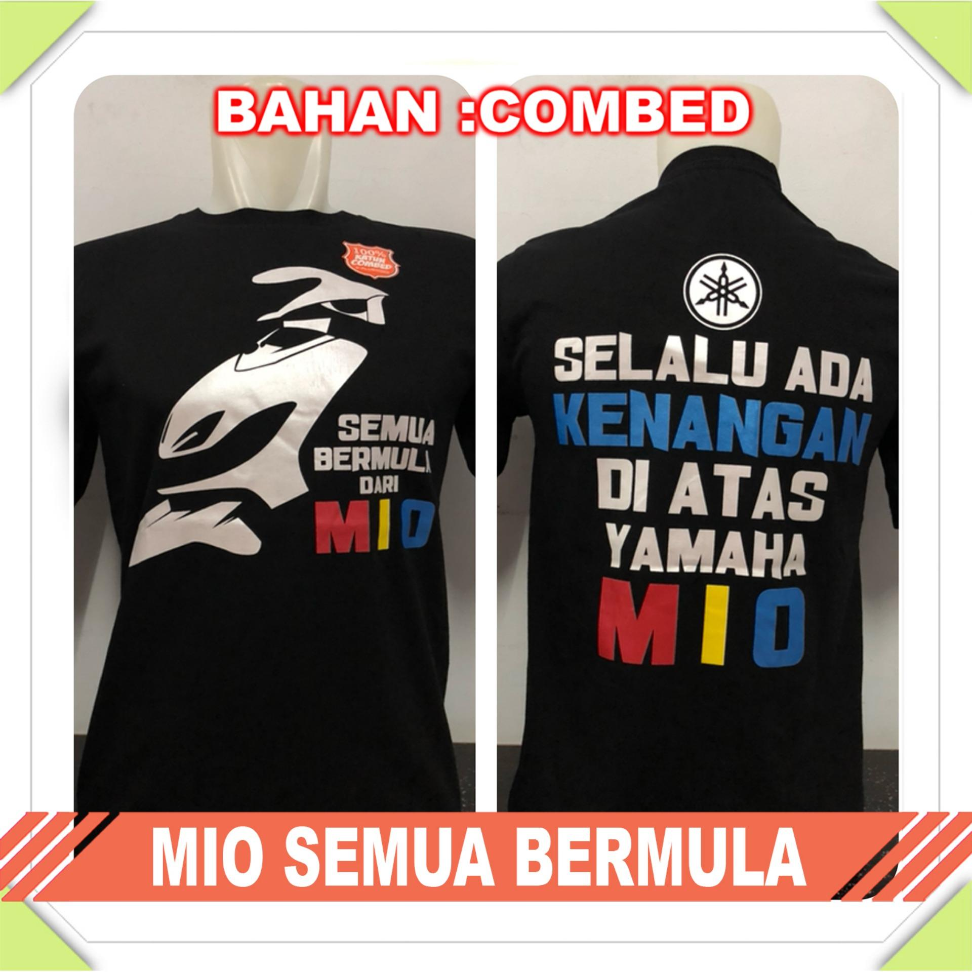 Gracestore - Kaos T-shirt Distro Premium Mio Semua Bermula - Hitam