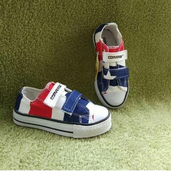 DEVINA'- Sepatu Sneakers Anak Converse Motif Lucu Perekat Tali Tinggi