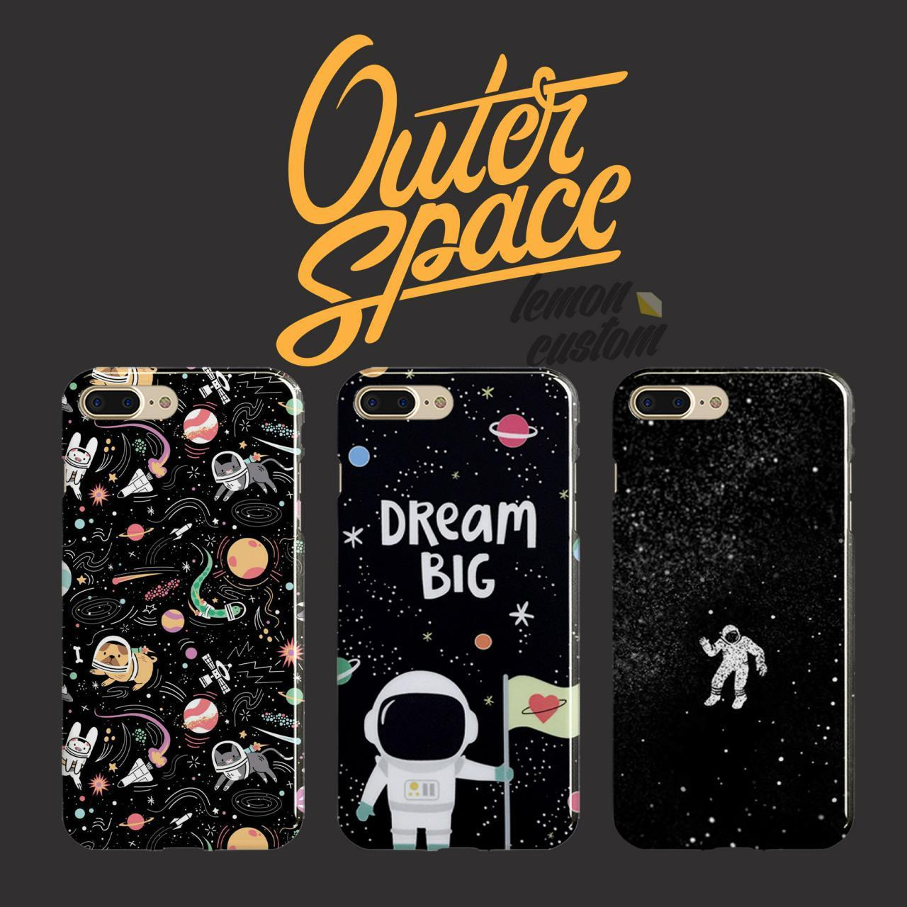 PREMIUM fullprint case hp custom apple Iphone 6 / 6s - gambar outer space