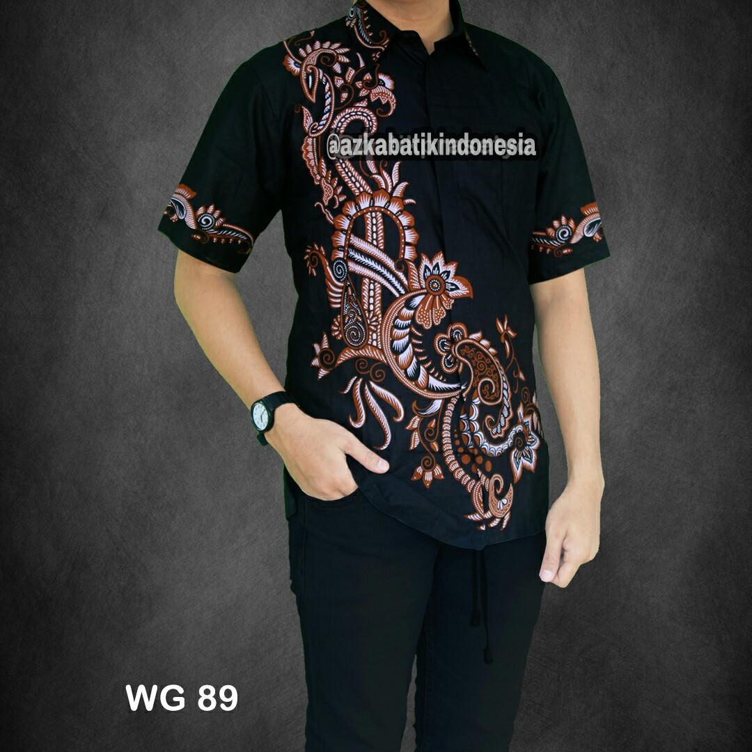 Jual Baju Muslim Pria Tebaru Produsen Jas Setelan Keren Dan Celana 0008 Coklat Batik Modern Kemeja Pekalongan Hem Motif Arjuna