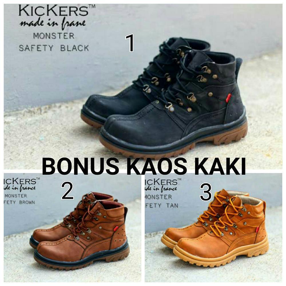 Jual sepatu safety boots kickers monster Fashion