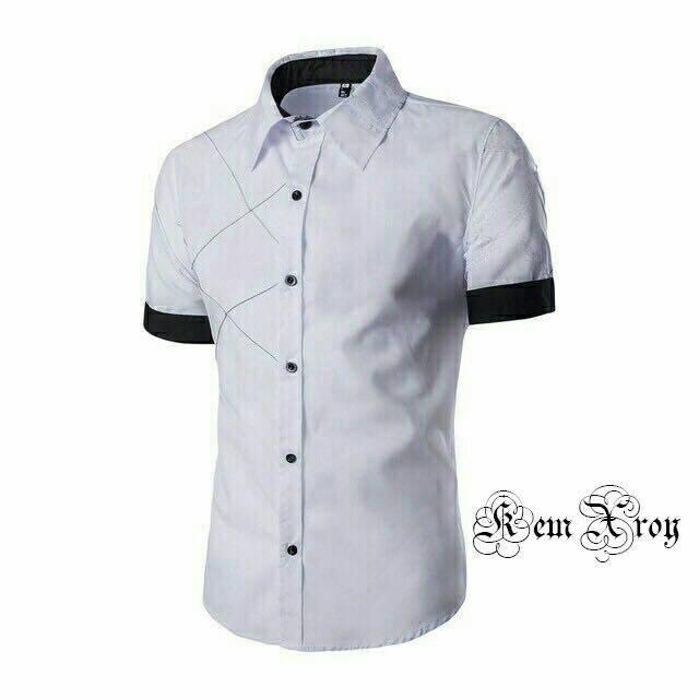 Fashion Kemeja Xroi Kemeja Xman Atasan Pria Baju Kerja Kemeja Polos Fashion  Kerja Pakaian Kerja Kemeja 3a6b50a144