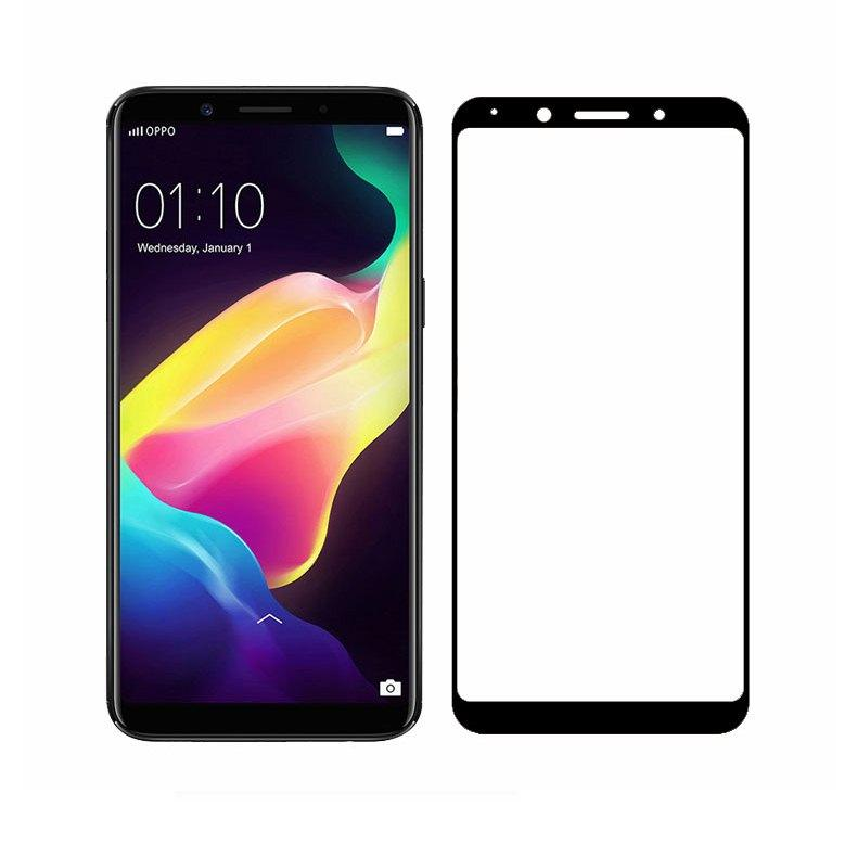 HMC Oppo F5 - 2.5D Full Screen Tempered Glass + Lis Black