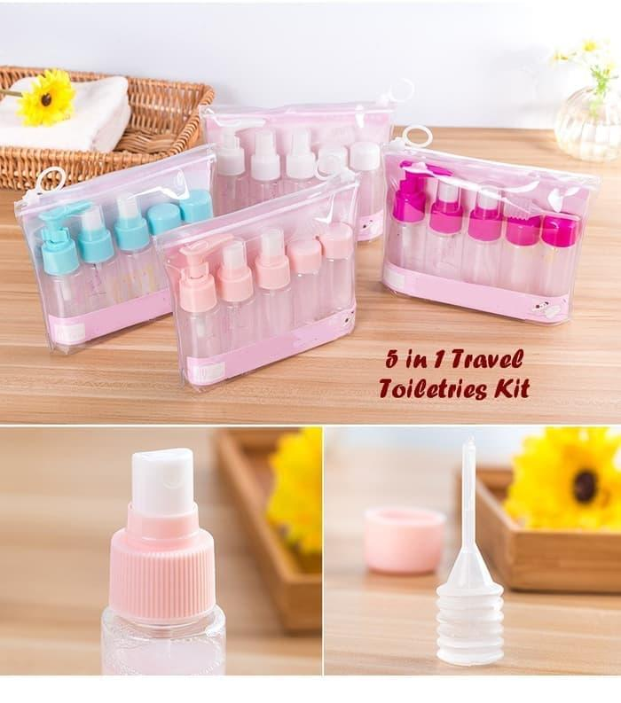 Travel Kit 5 In 1 Toiletries Tempat Sabun Shampoo Lotion Untuk Travel By Luckystore