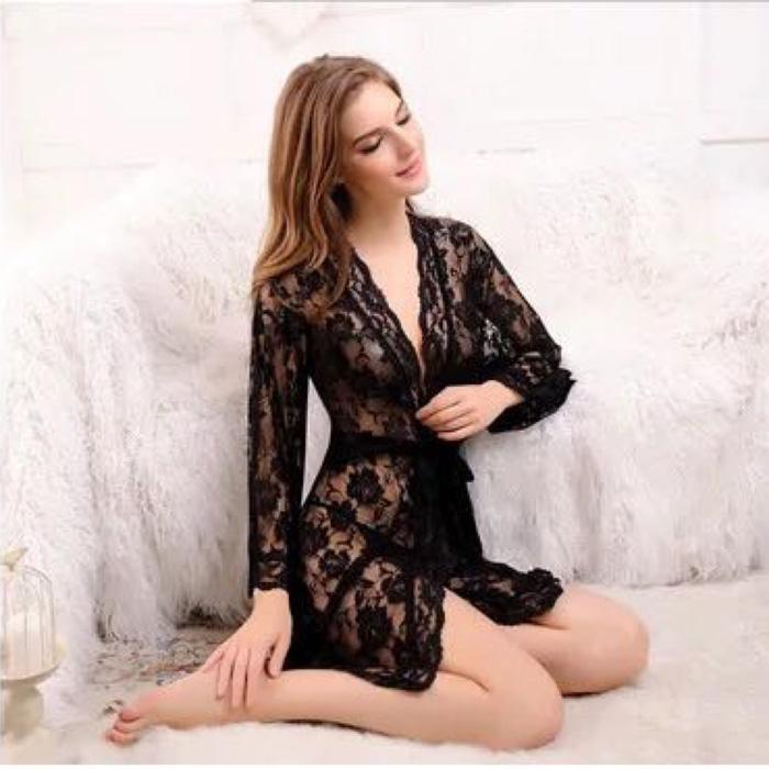 Sexy Lingerie Kimono 50 Lingeri Wanita Transparan Seksi Nikah Murah