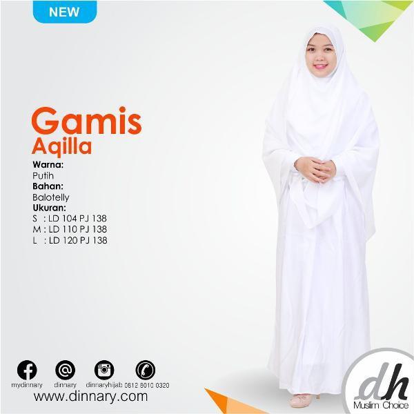 Promo Hari Ini Gamis Putih Syar'i Untuk Lebaran