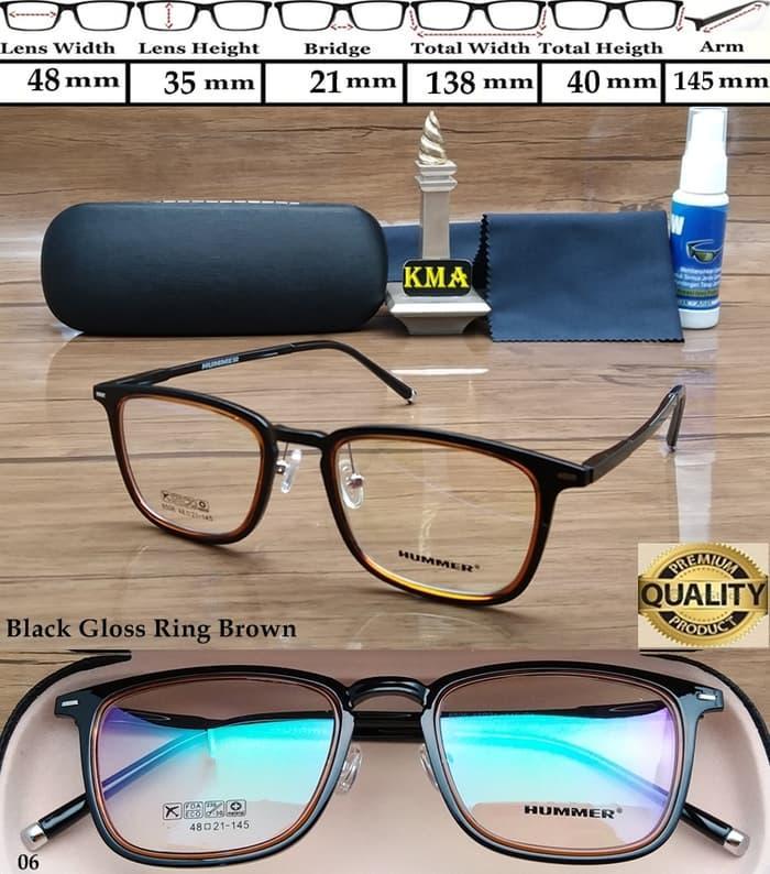 Frame kacamata minus HUMMER kacamata frame minus HUMMER kotak elastis