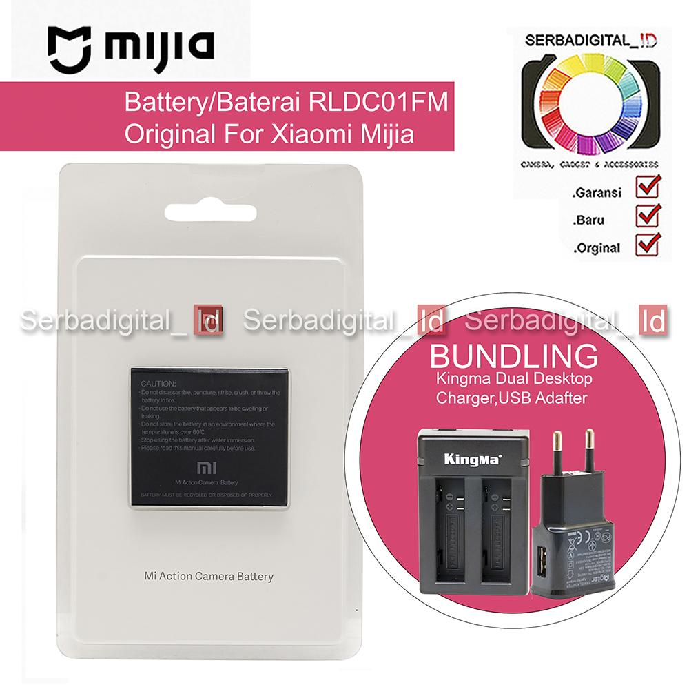 Mijia Battery/Baterai Set Desktop Dual Charger Original For Xioami Mijia