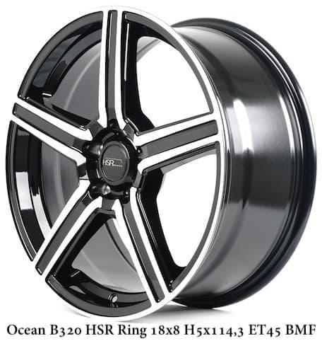 Velg Mobil Murah OCEAN B320 HSR Ring 18 ( VIP AUTOSTYLE )