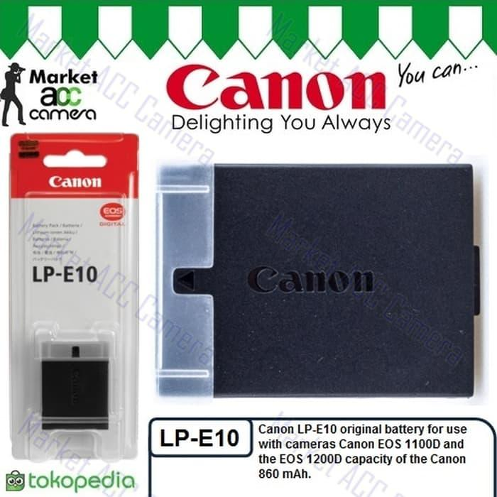 Battery Canon LP-E10 for EOS 1300D / EOS Rebel T3, T5, T6 TERLARIS