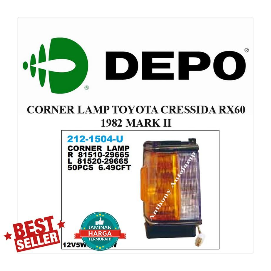 CORNER LAMP TOYOTA CRESSIDA RX60 1982 MARK II 1 SET