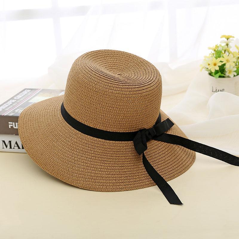 Topi Pelindung Sinar Matahari wanita Musim panas casual Topi jerami topi  nelayan SUN topi Musim semi 302828e333