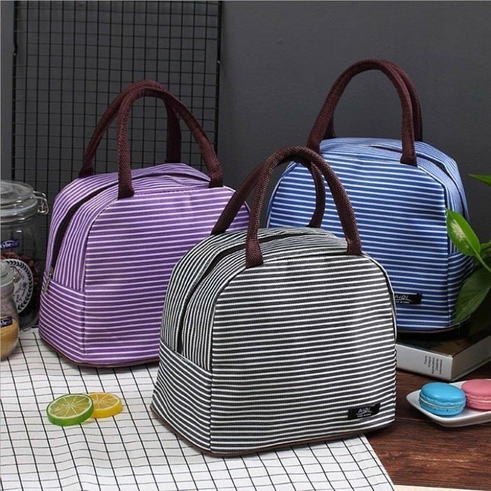 Lunch Bag Cooler Bag Tas bekal GARIS GARIS EDW 318