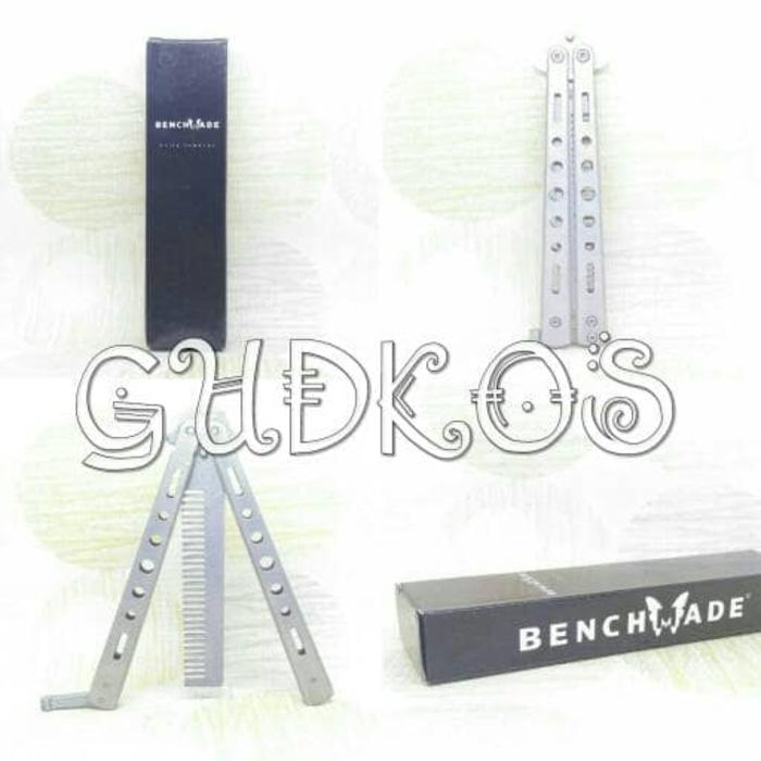 BENCHMADE Balisong Butterfly Comb - SILVER/ Sisir Pomade Bestseller