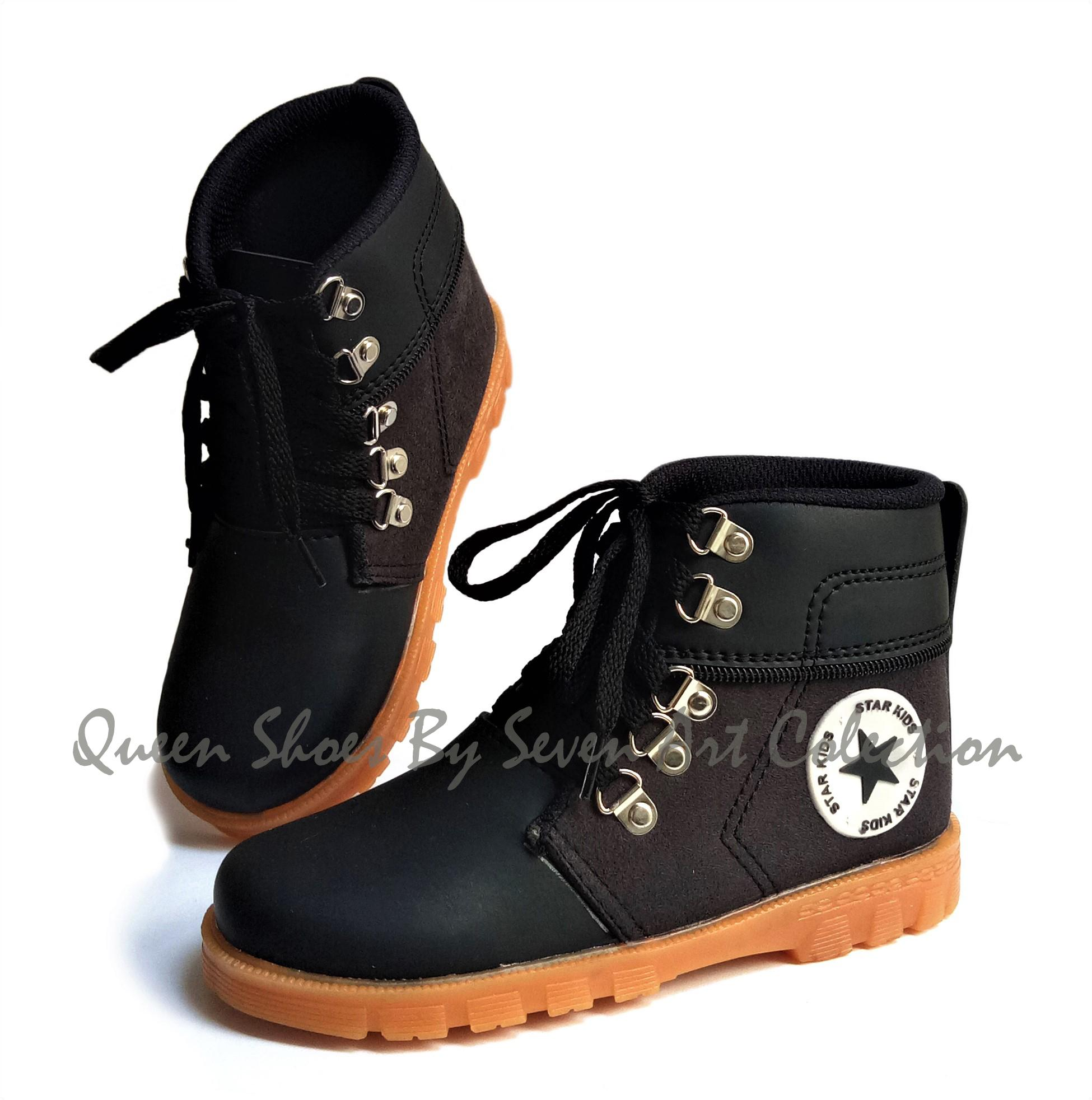 Seven Sepatu Boot Anak Laki Laki - Md By Queen Shoes.