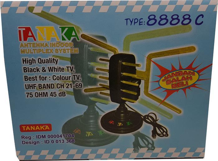 Original Antena Indoor Multiplex system UHF dan VHF Merk TANAKA 8888C