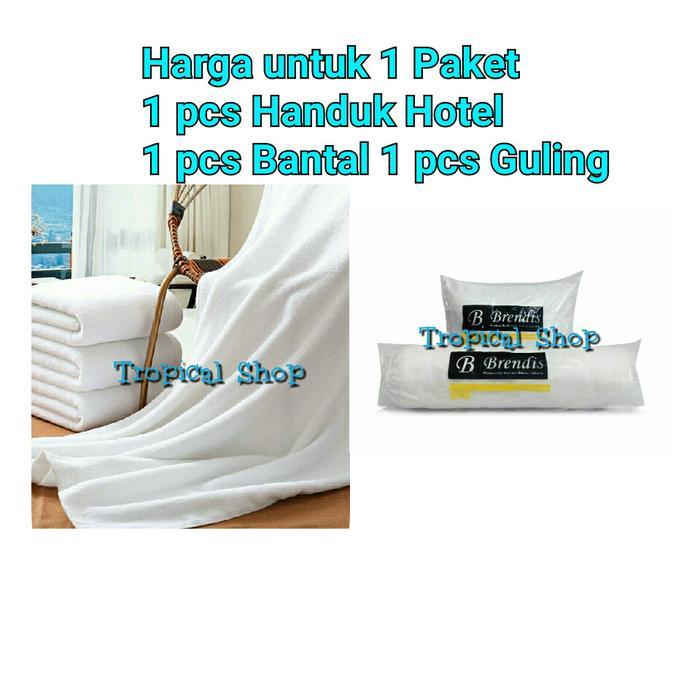 Handuk Hotel 70 x 140 cm & Bantal Guling Silikon bukan dakron