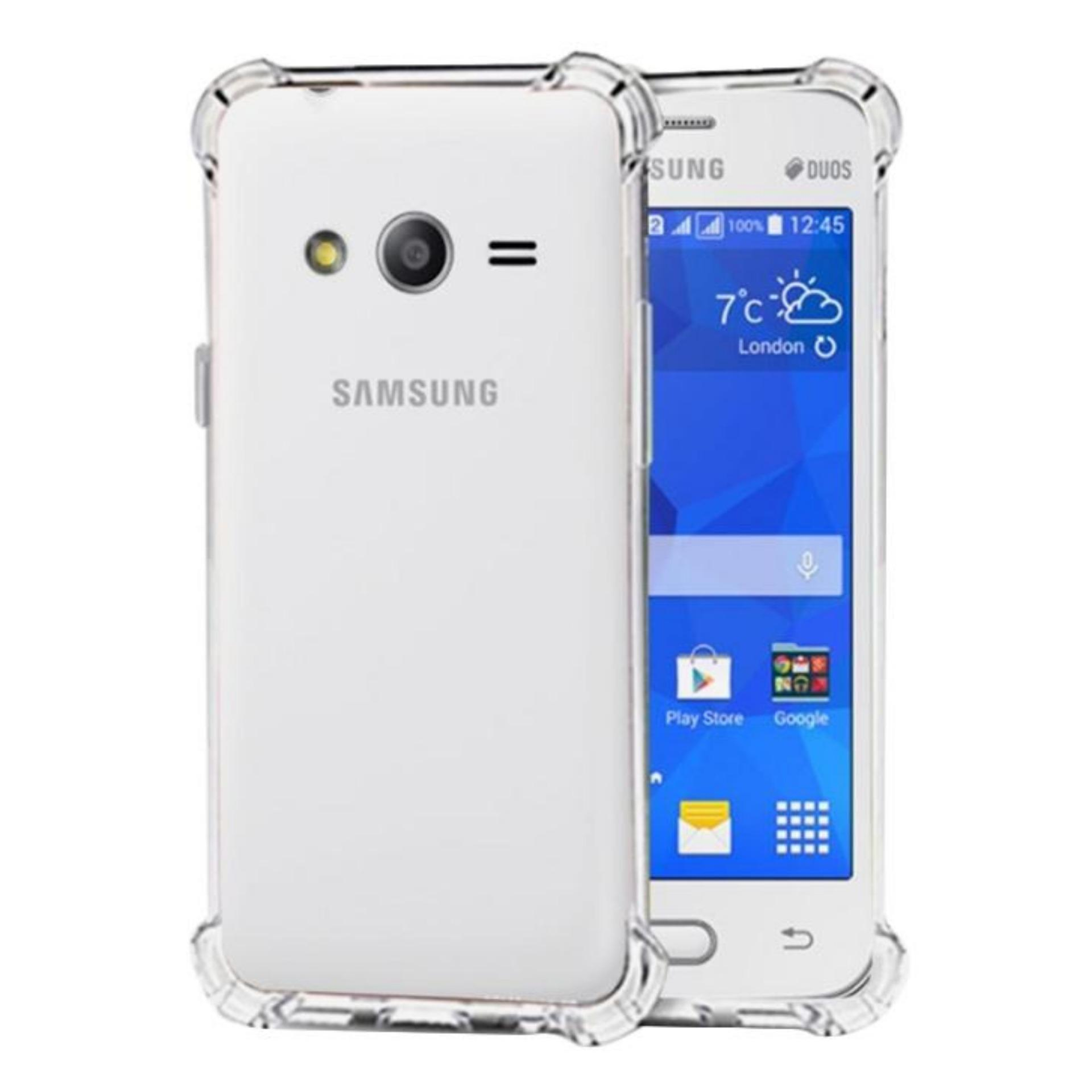 ShockCase for Samsung Galaxy V / V+ Plus / Ace 4 / Duos / G313 | Premium Softcase Jelly Anti Crack Shockproof - Transparan