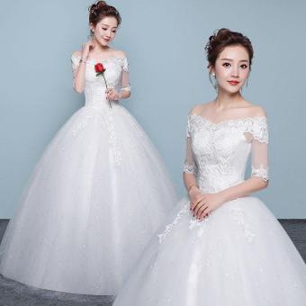 Pencarian Termurah Gaun resepsi gaun pengantin pengantin wanita Gaun pengantin 2018 model baru gaun panjang sampai lantai model bahu terbuka Terlihat ...