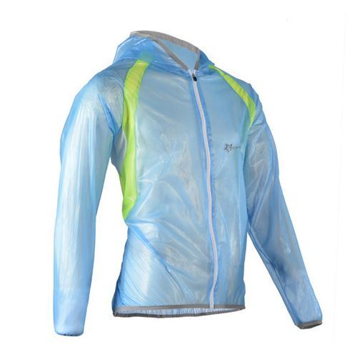 ROCKBROS MTB Jersey Sepeda Jaket Multifungsi Hujan Tahan Air Tahan Angin TPU Jas Hujan Sepeda Peralatan Sepeda Pakaian 3 Warna