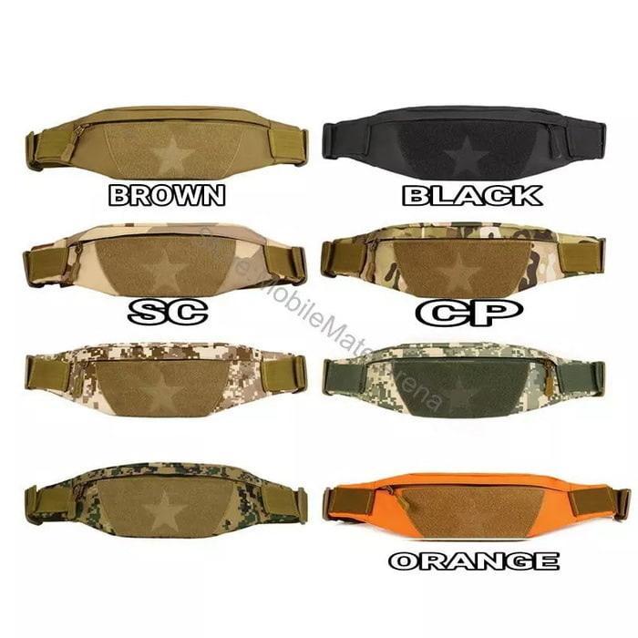 HARGA DISKON!!! Waist Bag Sarung Sabuk Pinggang Tempat HP Handphone Pouch Militer Army - ygu3Pc