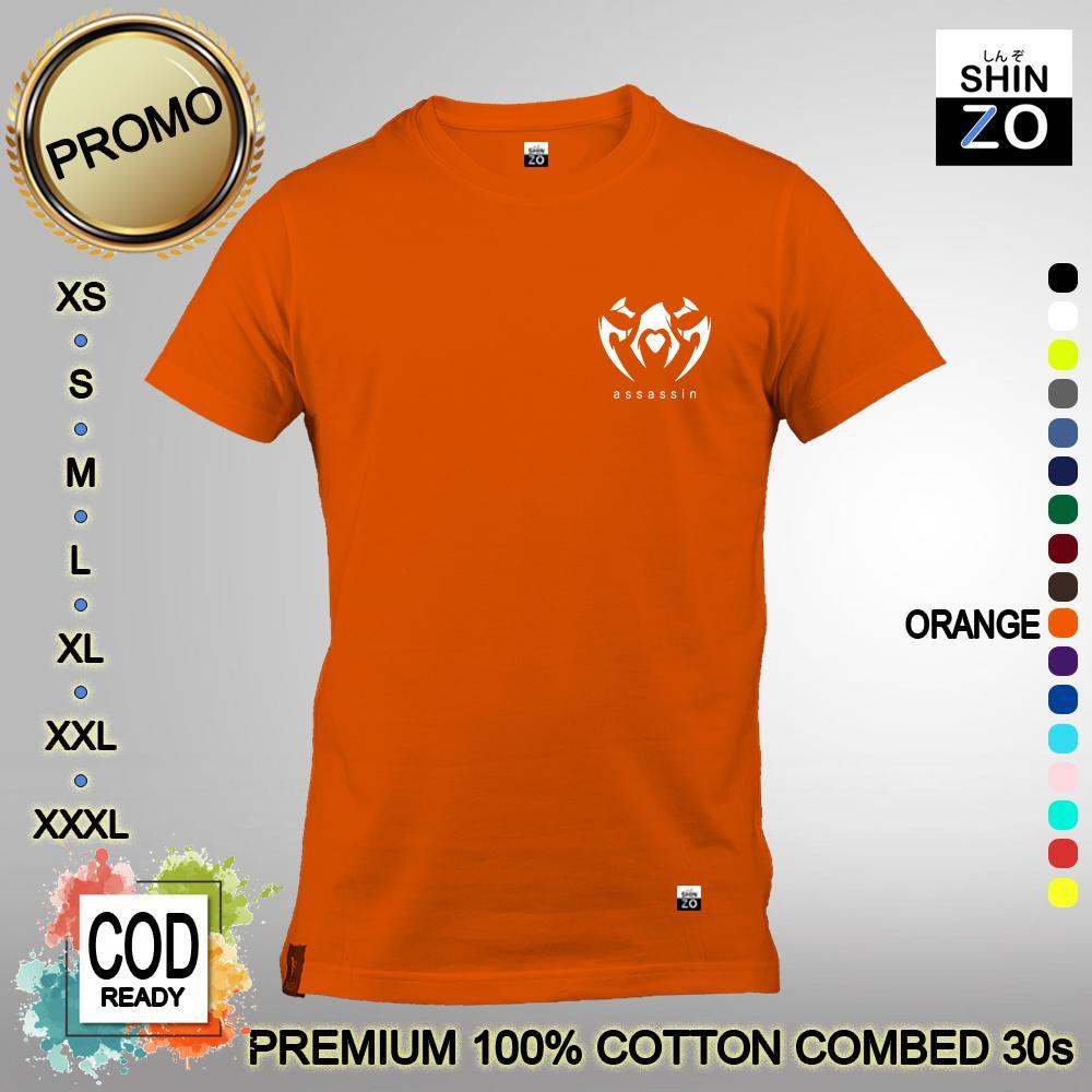 Shinzo Design - Baju Kaos Unisex 17 Warna - T Shirt Assassin Symbol Mini - Kaos