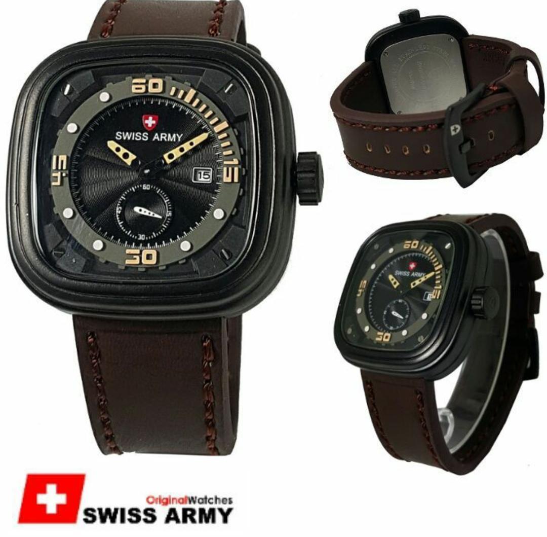 ... 1502 Full Black Orange. Source · Yazole Pria Lepas 3 Detik Bercahaya Jam Tangan Putih Coklat Spec Swiss Army Dual Time Sa