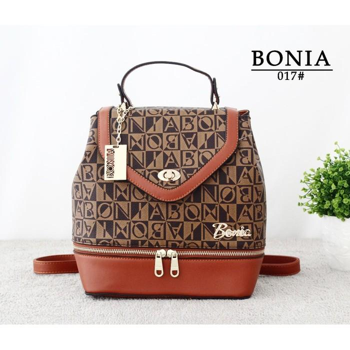 Promo Terbaru! Tas Bonia Ransel Selempang Jinjing Backpack Import BN017 Low Price!