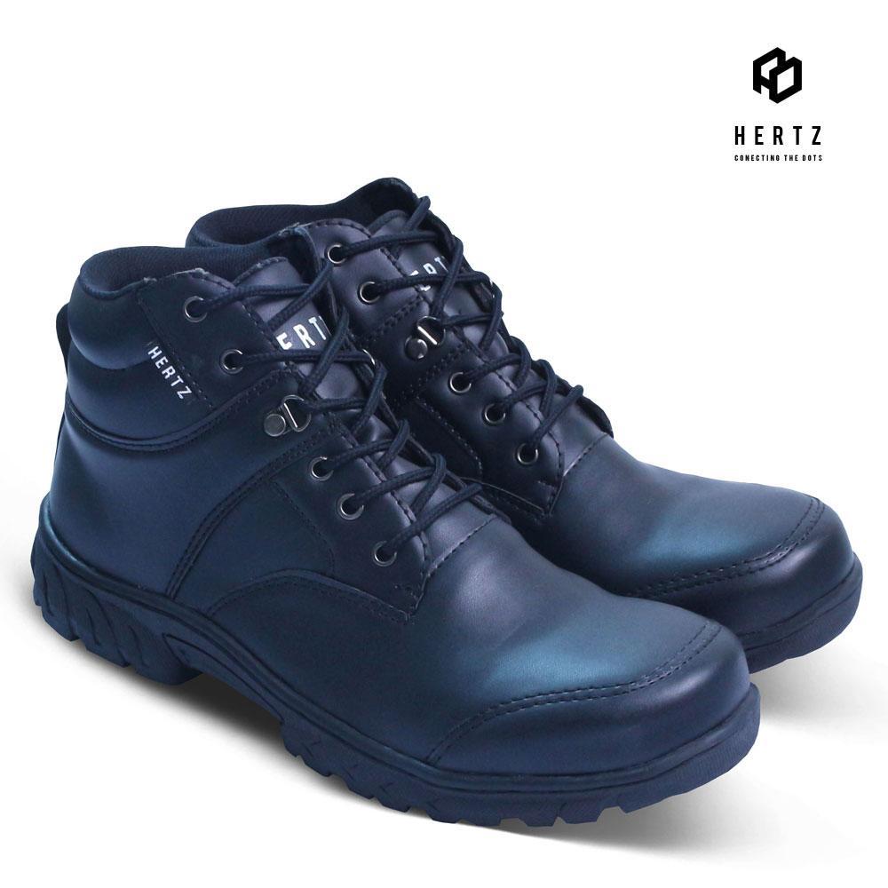 Sepatu Boot Pria H 2144 Sepatu Boots Safety Cowok Orignal Merk Hertz Harga  Murah Kulit Sintetis 67480ca84c