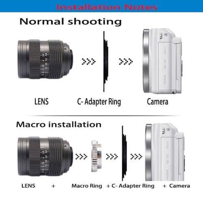 SALE - Lensa mirrorless Fujian 35mm f1.6 CCTV Lens w/ Hood sony xiaomi nikon1 Original