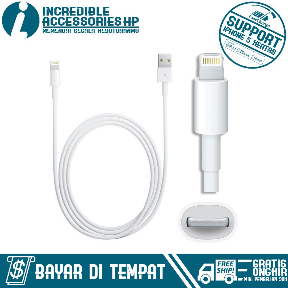 Kabel Data / Kabel Charger for Apple iPhone 5/5s/6/6s/6 Plus - Putih
