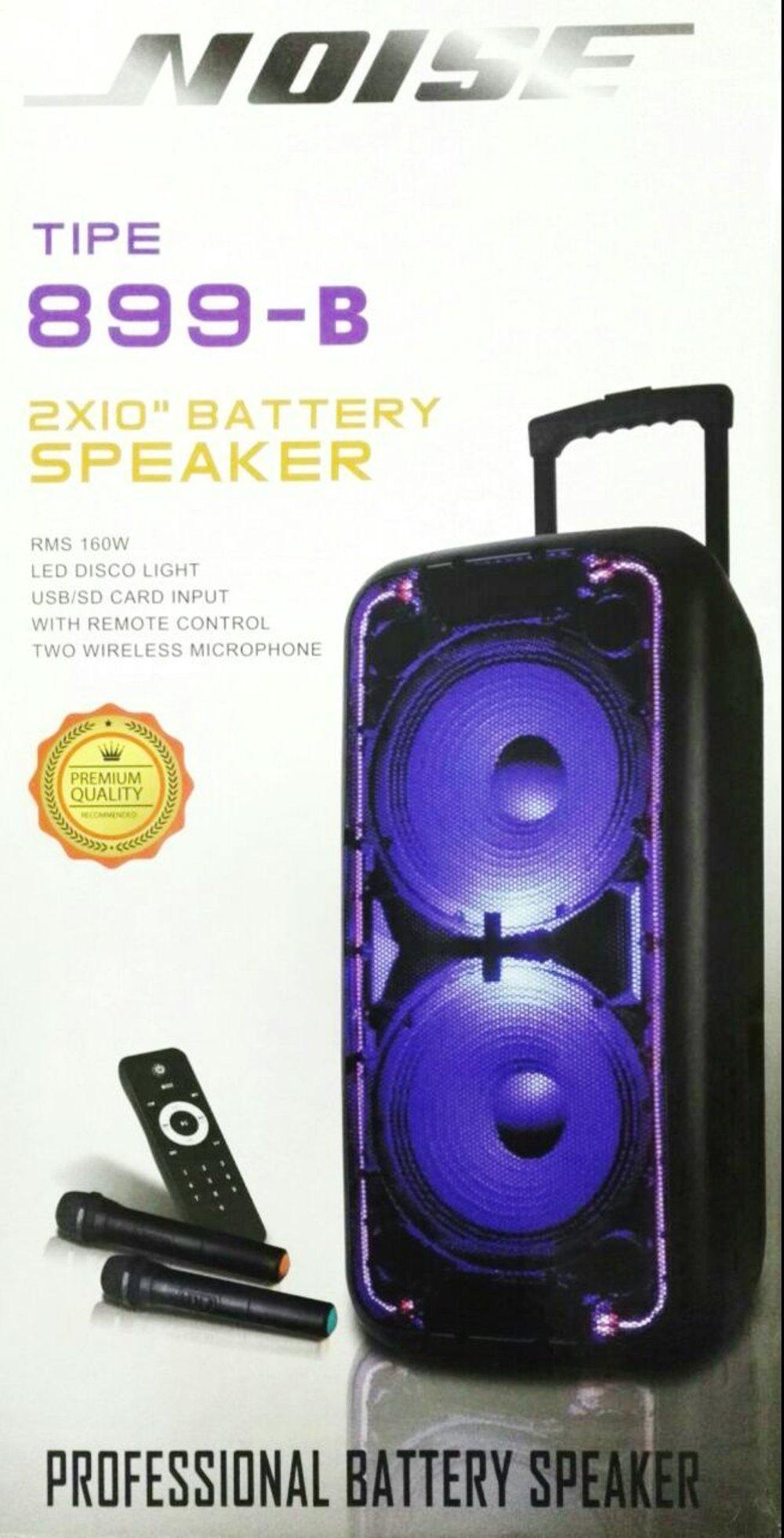 Speaker Aktif double 2 x 10 INCH plus built in 2 x WIRELESS MICROPHONE