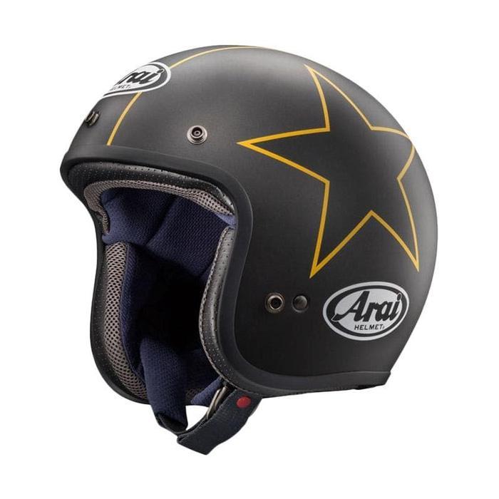 Arai Classic MOD Stars Original Helm Half Face - Black Yellow