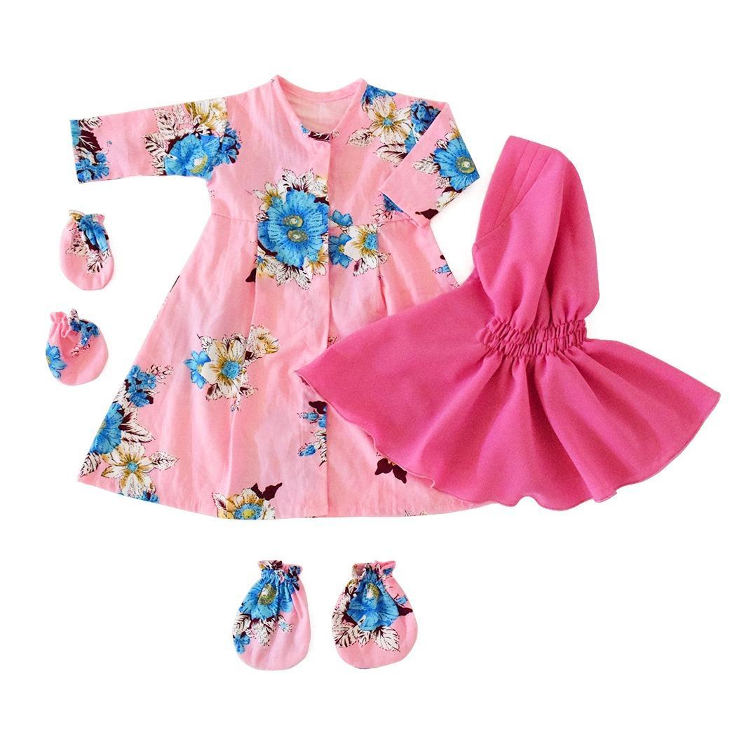 Baju Bayi Perempuan Baby Malika Gamis Bayi Newborn Aysa Passion Flower