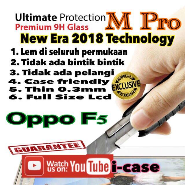 Oppo f5 tempered glass M Pro Full Glue