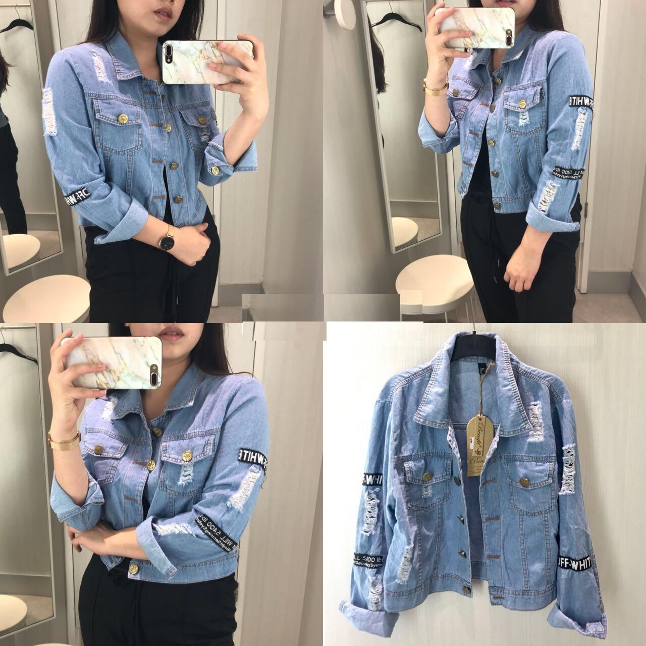 Kyoko Fashion Jaket Jeans Station   Jaket Wanita   Jaket Denim   Jaket Cewek 9e1c2c5767