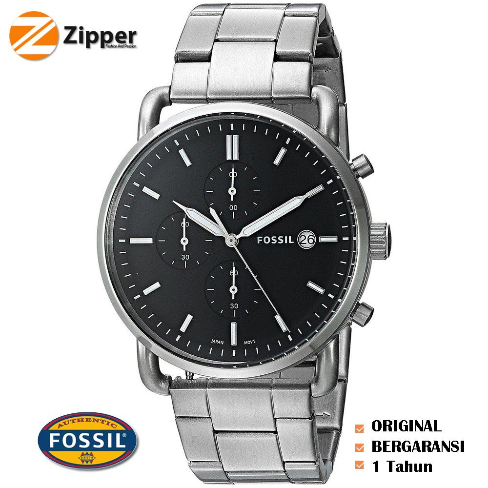 Buy Sell Cheapest Jam Fossil Pria Best Quality Product Deals Tangan Neutra Chronograph Stainless Steel Fs5384 Fs5379 Fs5399 Fs5400 Townsman Men Black Dial