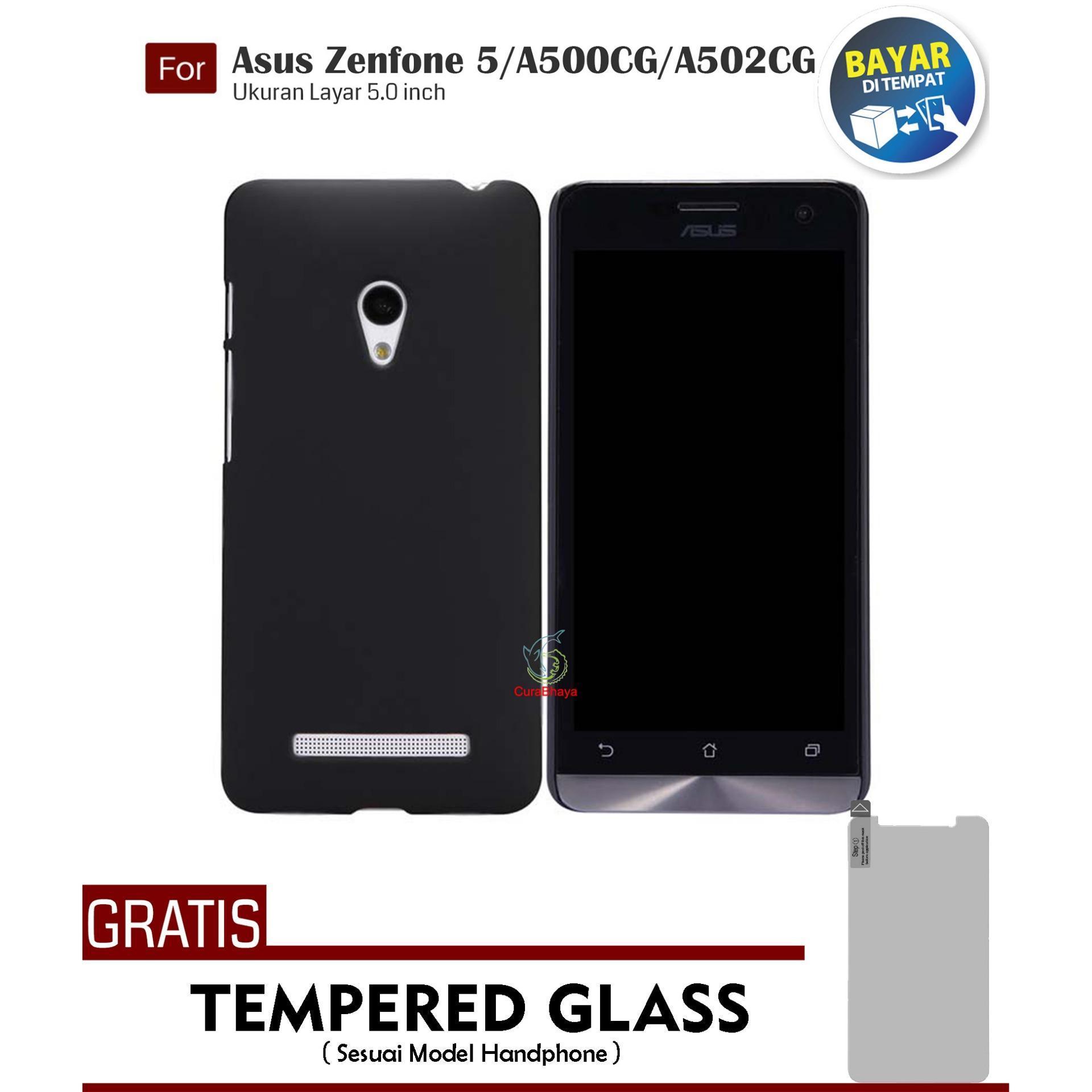 MidNight Asus Zenfone Zenfone 5 / Lite / A500CG / A502CG    Slim Case Black Matte Softcase Premium Baby Skin + Gratis Free Tempered Glass Screen Protector