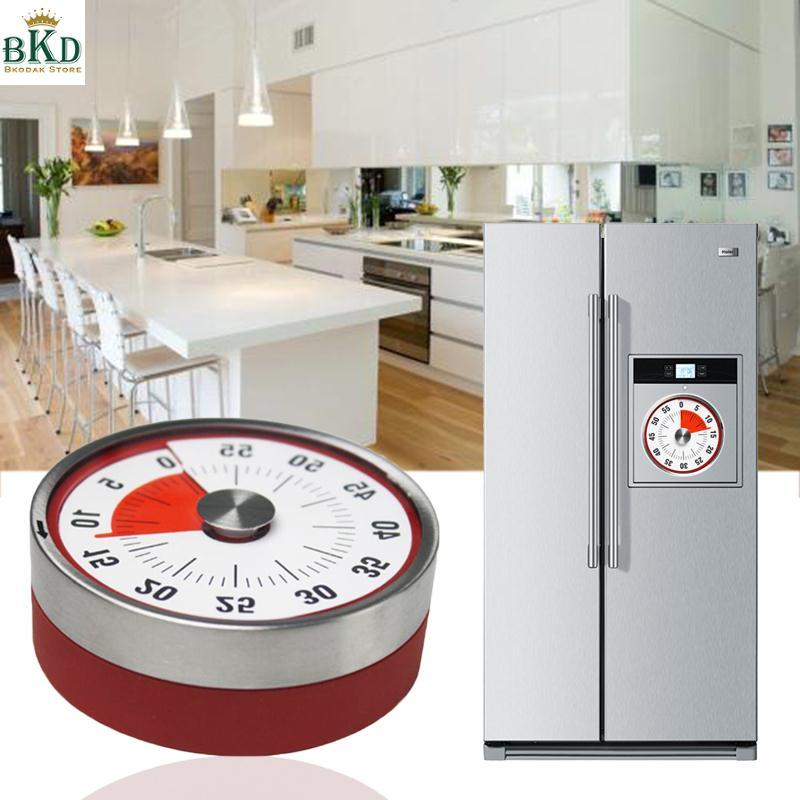 Kitchen Countdown Timer Bell Alarm Mechanical Minute Clock Stainless Steel