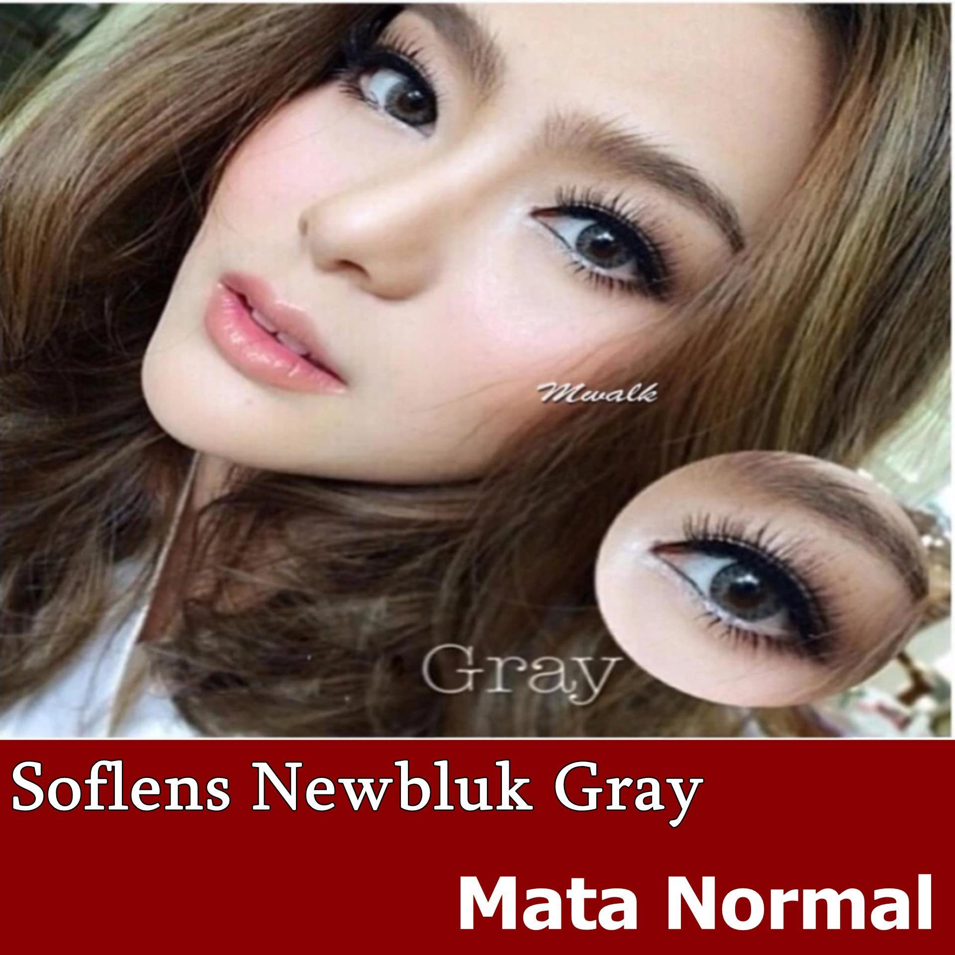 Softlens Newbluk Grey/ Soflens Newbluk Grey/ Gratis Lenscase