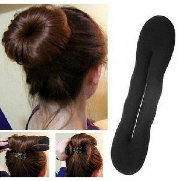 Hairdini Hair Dini Spon Cepol Kuncir Gulung Rambut Ikat Donat YZF73 Ha   Style