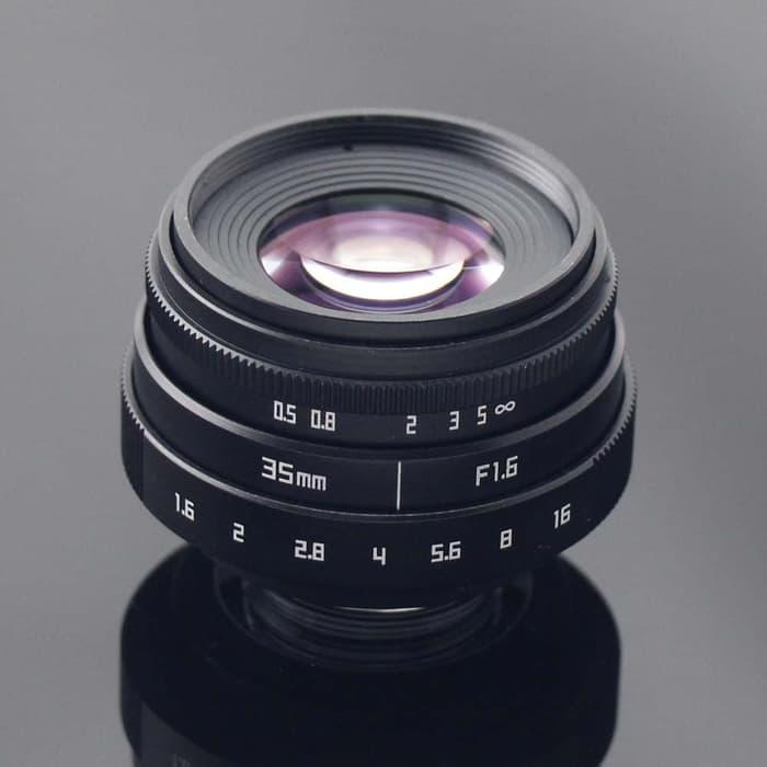 SALE - Lensa FIX Mirrorless Fujian 35mm f1.6 - Fuji,Sony,Canon mount adapter Original