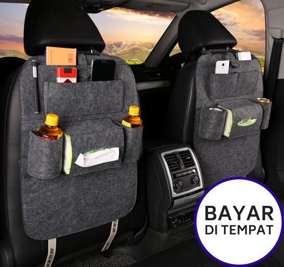 Clairmont Car Seat Organizer Tas Mobil Multifungsi Belakang Jok - Silver