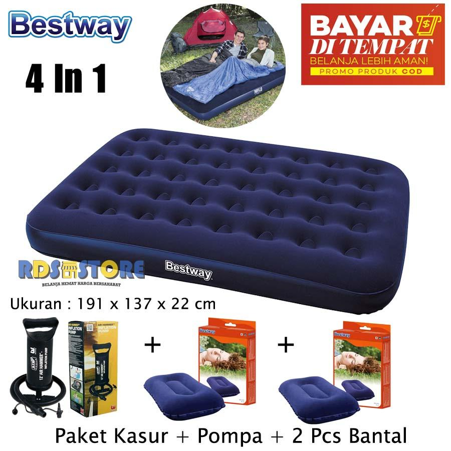 Bestway Kasur Angin Double Pompa 2 Pcs Bantal