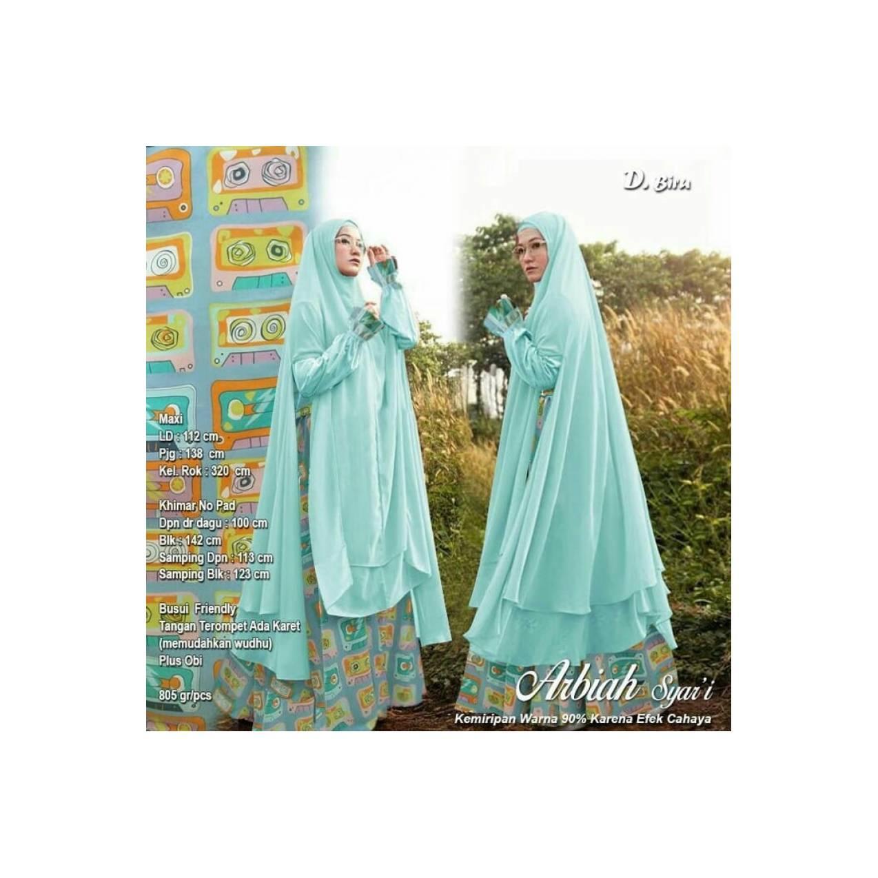 Baju Pengantin Muslimah 119917 GAMIS JUMBO ARBIAH SYARI BIRU