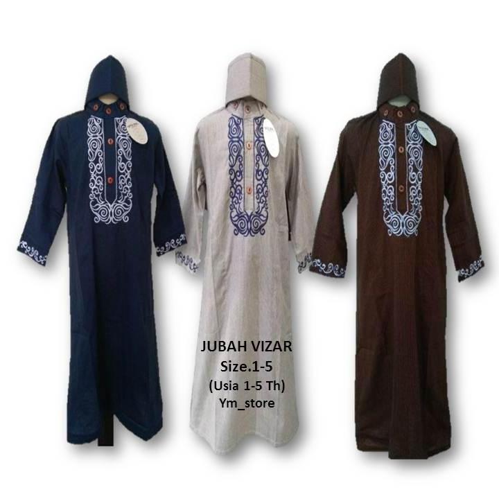Setelan Baju Muslim Koko Anak Laki-Laki Plus Peci/ Jubah Anak Laki-Laki Plus Peci Size 1-4 - ym_store Best Seller