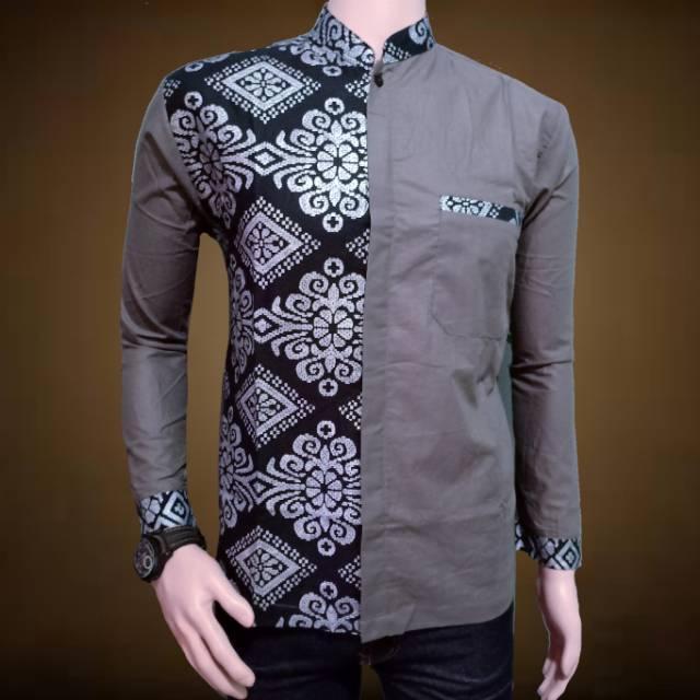 (Tp) Fashion Muslim Koko Al Haramain Dewasa Size S/M/L/XL - Baju Koko Paling Murah 1 Jawara btik 03 (XL)