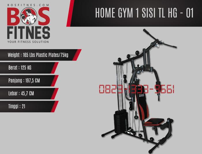 Harga Diskon!! Home Gym 1 Sisi Tl-Hg 001 Beban 75Kg Bisa Cod Serang,Cilegon,Karawang - ready stock