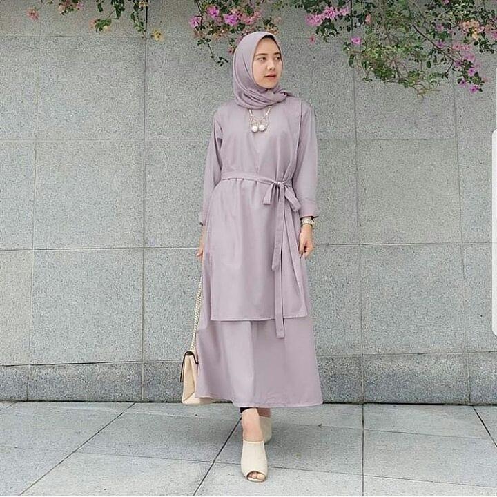 Baju Original Carey Tunik Balotely Pakaian Wanita Muslim panjang Fashion Cewek Atasan Fashionable Terbaru Simple Casual 2018