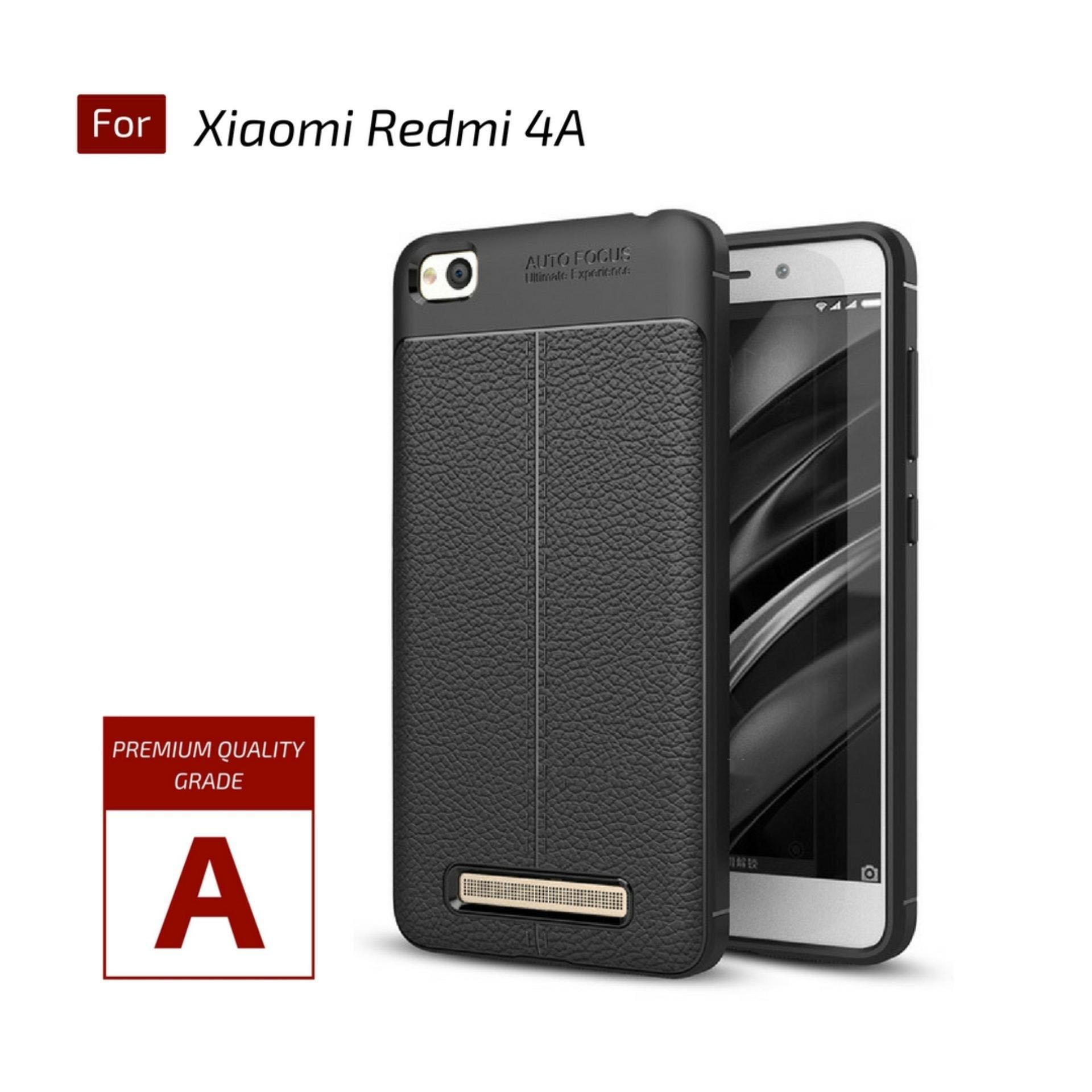 Jak Shop Leather Softcase For Xiaomi Redmi 4A - Black